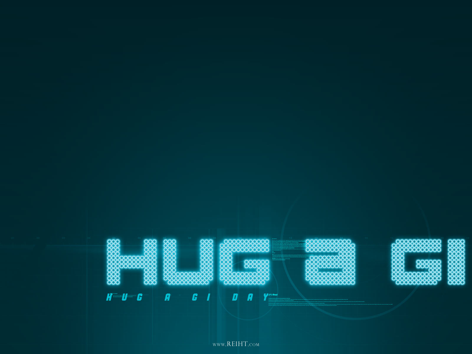 Hug A GI Day background for PPT powerpoint . Designed in blue color ...